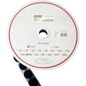 FASTECH® T01035999903C1 Klettpunkt zum Aufkleben Hotmelt Haftteil (Ø) 35 mm Schwarz 1 St.