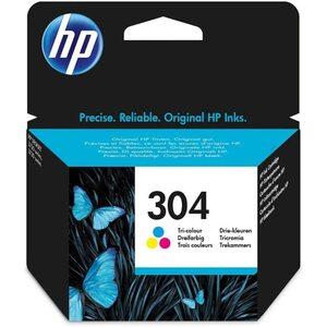 HEWLETT PACKARD 304 Original Druckerpatrone Farbe, Cyan/Magenta/Gelb, gestochen scharfe Texte, Bilder und Grafiken in brillanten Farben, zum Drucken von hochwertigen Fotos und Dokumenten, zuverlässi