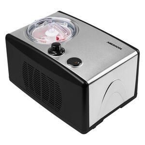 MEDION Eismaschine MD 18387, Kapazität für 1,5 L Eis (Füllmenge: 800 ml), selbstkühlend mit Kompressor, geeignet für die Zubereitung von Eiscreme, Frozen Joghurt & Sorbet