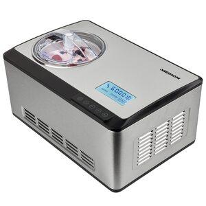 MEDION Eismaschine MD 18883, Kapazität für 2 L Eis (Füllmenge: 1,2 L), selbstkühlend mit Kompressor, geeignet für die Zubereitung von Eiscreme, Frozen Joghurt & Sorbet, LC Display & Sensor-Touch