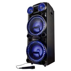 MEDION LIFE® X64060 Partylautsprecher, LED-Display, Karaoke-, DJ- und Schlagzeug-Funktion, Bluetooth® 5.0, Equalizer, inklusive Mikrofon, 2 x 1000 W max. Musikausgangsleistung
