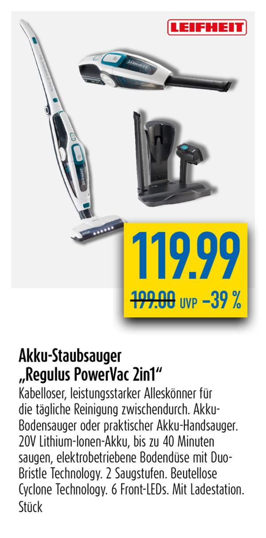 "Akku-Staubsauger ""Regulus PowerVac 2 in 1"""