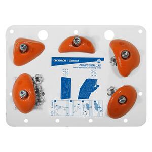 Klettergriffe Crimps Small 5er-Pack orange