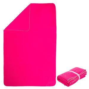 Mikrofaser-Badetuch gestreift XL 110×175cm rosa
