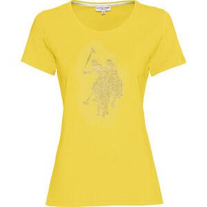 U.S. Polo Assn. T-Shirt, Rundhals, Strass, für Damen