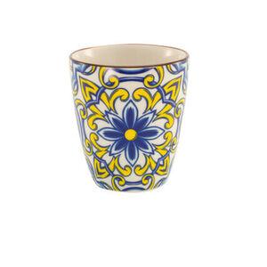 """CreaTable Becher """"Aladin"""", 300 ml, gelb/blau/weiß"""