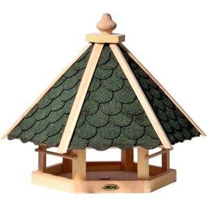 Dobar Vogelhaus Bitumen-Dachschindeln Grün 45 x 51 x 41 cm Sechseck