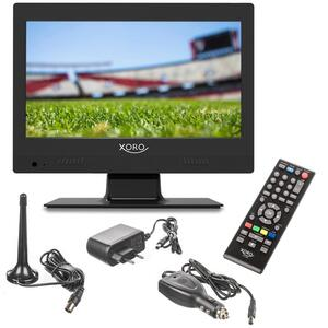 Xoro HD LCD TV mit Akku 31,75cm (12.5 Zoll) PTL250, 12V und 230V, DVB-T/T2, VHF, UHF, HDMi