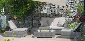 Lounge-Gruppe ALCUDIA, 4tlg., Gartenmöbel, Tischgruppe, Gartentisch, Gartenstuhl