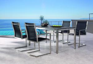 Best Gartenmöbelgarnitur 5-tlg. Freischwingsessel Marbella+Tisch 160x90cm; 94150087