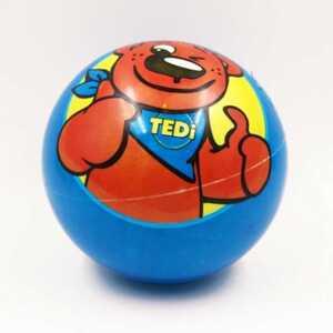 TEDi-Ball/Plastikball, TEDi-Bär, ca. 22 cm, blau