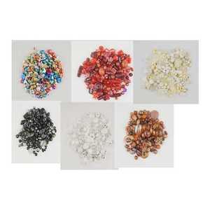 Acrylperlen, verschiedene Formen und Beschichtungen, Acryl, verschiedene Farben