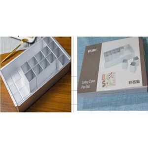 Cube Backform, Zahlen & Buchstaben, Aluminium, Silber