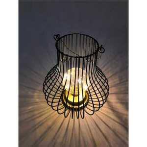 LED Gitter Lampe, ca. 23,5 x 20,5 cm, schwarz