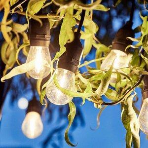 BULB LIGHTS Outdoor-Lichterkette mit 10 Glühbirnen und Stecker