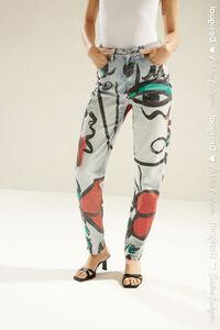 Gerade geschnittene Unisex-Jeans mit Aufdruck 'El Beso'