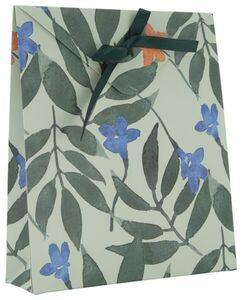HEMA 2er-Pack Umschlag-Geschenktaschen, 21 X 18 X 5 Cm, Blumen