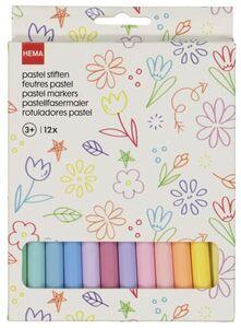 HEMA 12er-Pack Pastell-Buntstifte