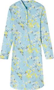Schiesser Single-Jersey Damen-Nachthemd  gemustert langarm 36