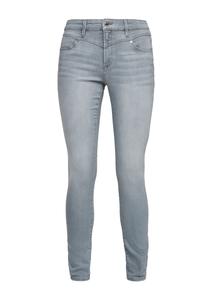 Damen Skinny Fit: Jeans mit Sattelbund