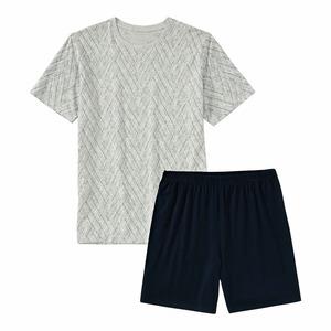 Herren-Schlafanzug mit Rundhalsausschnitt