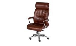 Leder-Chefsessel - braun - Stühle