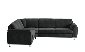 meinSofa Ecksofa - schwarz - 84 cm - Polstermöbel