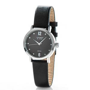 Falkenberg & Söhne Elegante Armbanduhr, ca. 32 mm Ø, Schwarz