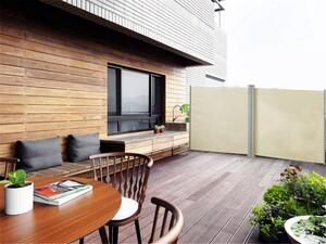 HC Home & Living Doppel - Seitenmarkise ca. 6,0 x 1,5 m - Beige
