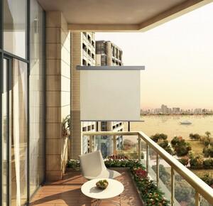 HC Home & Living Alu Seitenmarkise ca. 2 x 1,5 m - Beige