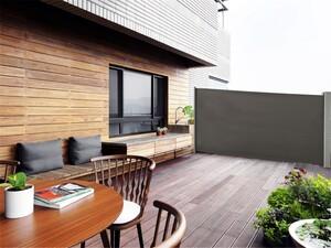 HC Home & Living Alu-Seitenmarkise, ca. 4,5 x 1,6 m - Anthrazit