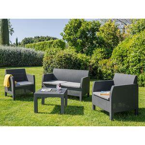 4-Sitzer-Lounge Matilde mit Sitzkissen Anthrazit