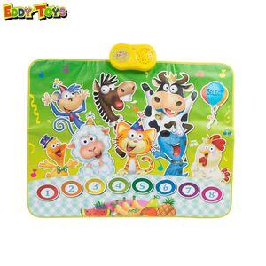 Eddy Toys Party-Spielmatte mit Sound Tiere 90x70cm