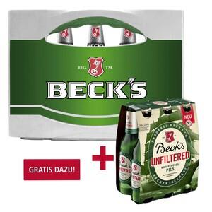 Beck's 20 x 0,5/24 x 0,33 Liter, jeder Kasten (+ 3,10/3,42 Pfand)