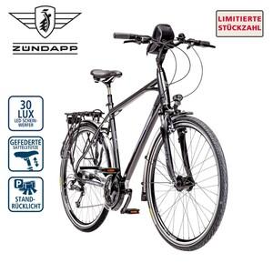 Zündapp Alu-Trekkingrad Silver 5.0 28er, Shimano Schalt-/Bremshebel, Alu-V-Bremsen, Rahmenhöhe 48 cm (Damen), 55 cm (Herren), verstellbarer Alu-Lenkervorbau