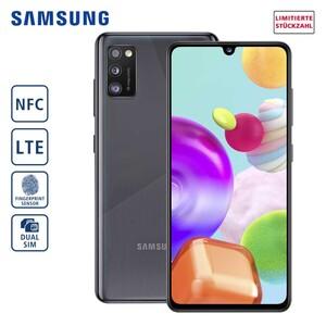 Samsung Smartphone Galaxy A41 A415F • 3-fach Hauptkamera mit Weitwinkel-, Ultraweitwinkelund Bokeh-Objektiv (48 MP + 8 MP + 5 MP) • 25-MP-Frontkamera • 4-GB-RAM, bis zu 64 GB interner Speic
