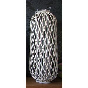Bambuslaterne mit Glaswindlicht 33x90cm