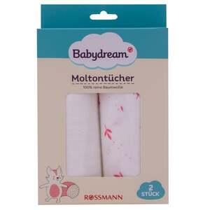 Babydream Moltontücher, rosa