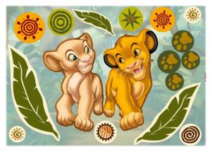 Deko-Sticker Simba und Nala ca. 50 x 70 cm