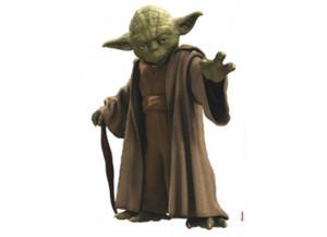 Deko-Sticker Star Wars Yoda ca. 100 x 70 cm