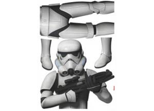 Deko-Sticker Star Wars Storm Trooper ca. 100 x 70 cm