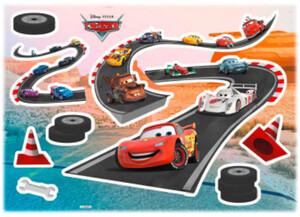 Deko-Sticker Cars Track ca. 50 x 70 cm