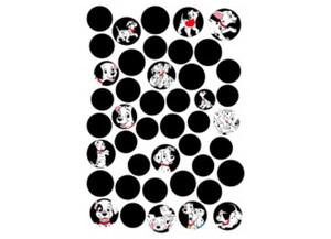 Deko-Sticker 101 Dalmatiner Dots ca. 50 x 70 cm