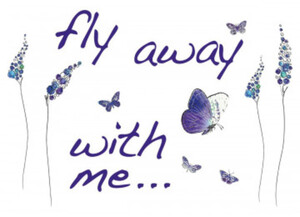 Deko-Sticker Butterflies ca. 100 x 70 cm