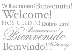 Deko-Sticker Welcome ca. 50 x 70 cm