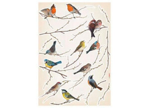 Deko-Sticker Vogel ca. 50 x 70 cm