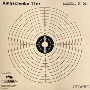 Kugelfang-Zielscheiben 14 x 14 cm 11er Ring 50 Stück