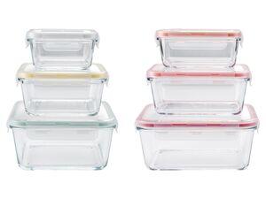 ERNESTO® Glas-Frischhaltedosenset, 3-teilig