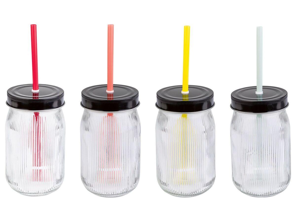 Bild 5 von ERNESTO® Gläser mit Trinkhalm, 4er-Set