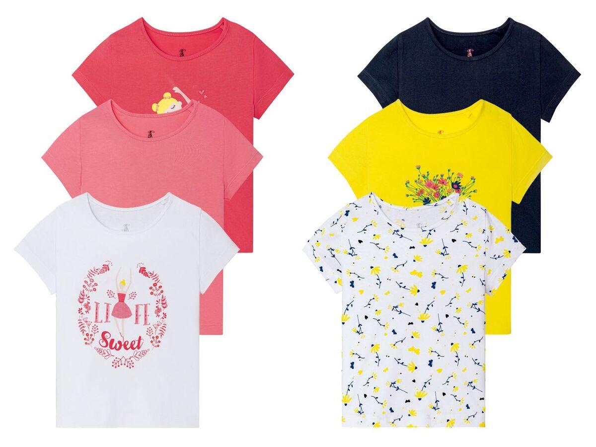 Bild 1 von LUPILU® Kleinkinder T-Shirts Mädchen, 3 Stück, mit Print